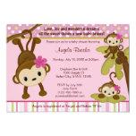 """MONKEY Baby Shower Invitation 3 Little Monkeys 5"""" X 7"""" Invitation Card"""