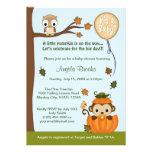 MONKEY Baby Shower Invitation Fall Pumpkin NEUTRAL