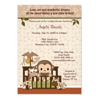 MONKEY Baby Shower Invitation Nali Jungle NJM