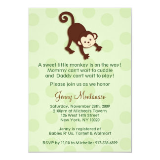 Monkey Baby Shower Invitations Template