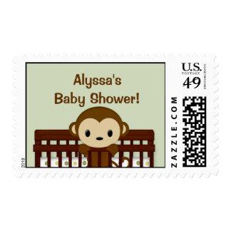 MONKEY Baby Shower Mod Pod Pop Crib Postage MPP2