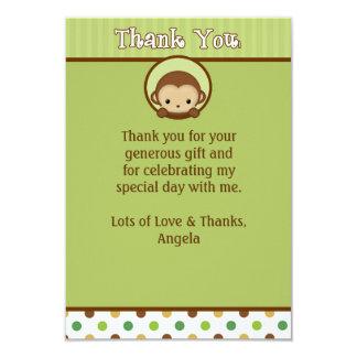 Monkey Baby Shower Thank You MPPv4 Green (FLAT) Card