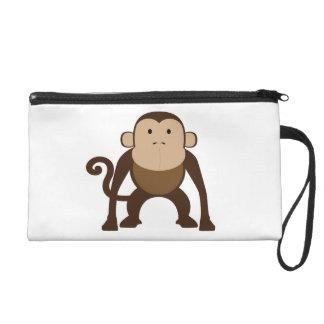 Monkey Wristlet Purse