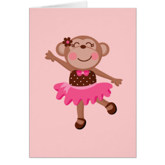 Monkey Ballerina Card