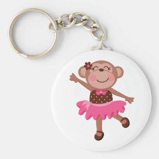 Monkey Ballerina Keychain