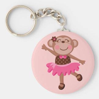 Monkey Ballerina Key Chain