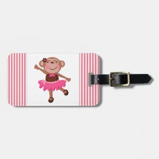 Monkey Ballerina Luggage Tags