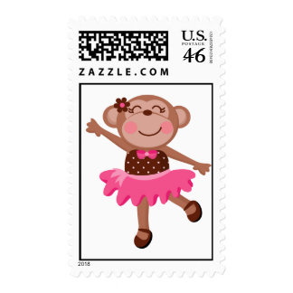 Monkey Ballerina Stamps
