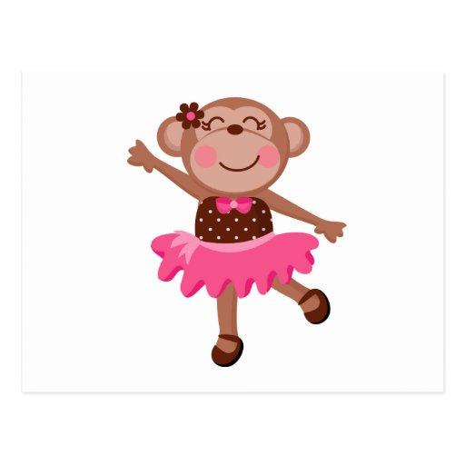 Monkey Ballerina Postcards
