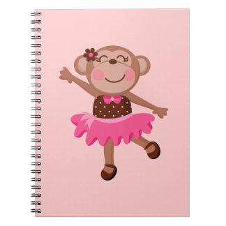 Monkey Ballerina Spiral Notebook