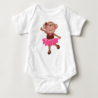 Monkey Ballerina Infant Creeper