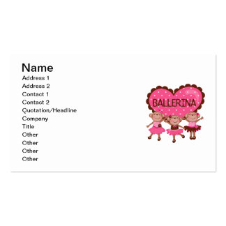 Monkey Ballet Double-Sided Standard Business Cards (Pack Of 100)