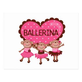 Monkey Ballet Postcard
