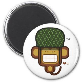 monkey_banana 2 inch round magnet