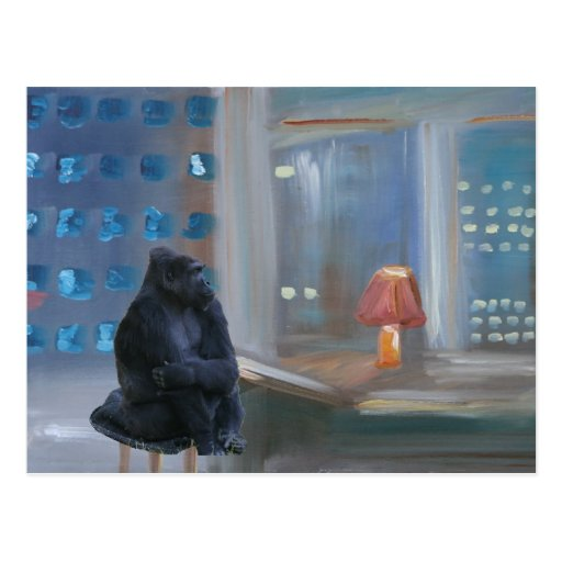 """Monkey Bar"" Postcard"