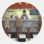 Monkey Bar Round Stickers
