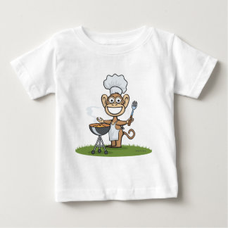 Monkey Barbecue Baby T-Shirt