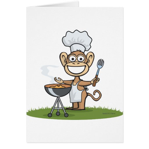 Monkey Barbecue Cards