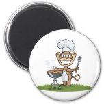 Monkey Barbecue Magnet