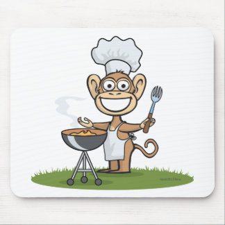Monkey Barbecue Mouse Pad