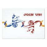 Monkey Barrel Birthday Invitation