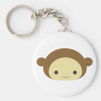 Monkey Basic Round Button Keychain