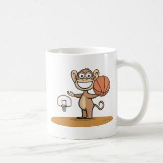Monkey Basketball Classic White Coffee Mug