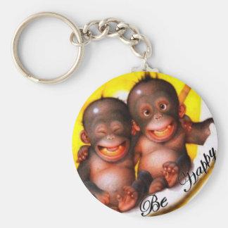 Monkey Be Happy Keychain