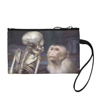Monkey Before Skeleton Coin Purse
