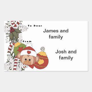Monkey Bells Rectangular Sticker