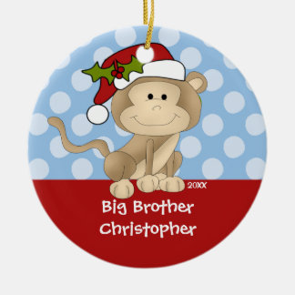 Monkey Big Brother Christmas Ornament