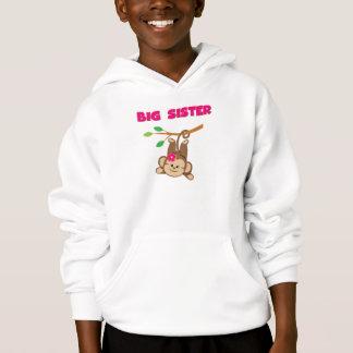 Monkey Big Sister Hoodie