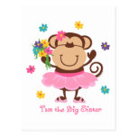 Monkey Big Sister Post Cards