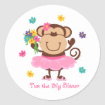 Monkey Big Sister Stickers