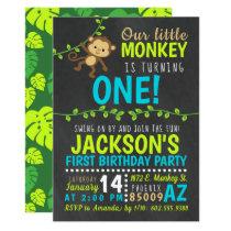 Monkey Birthday Invitation