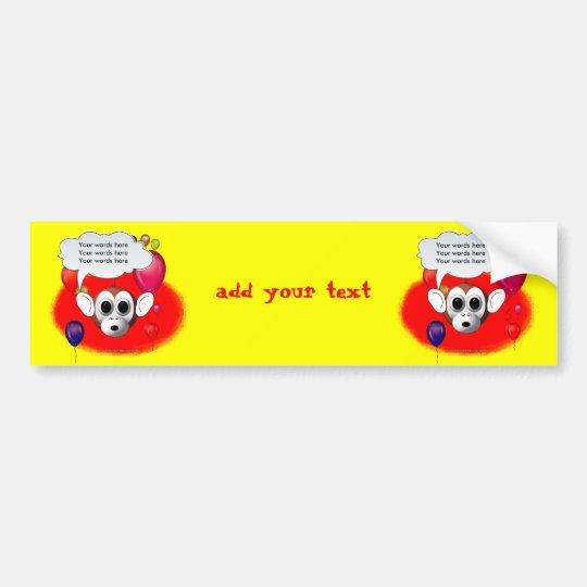 Monkey Birthday Party Bumper Sticker