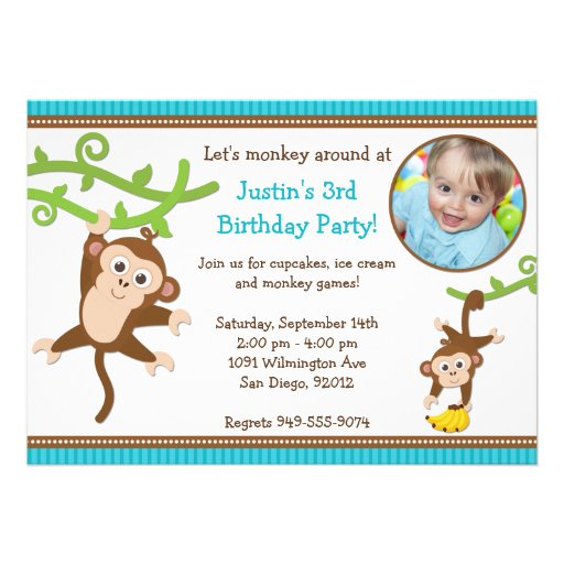 Monkey Birthday Invitations for your inspiration to make invitation template look beautiful