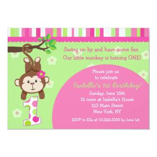 Monkey Birthday Party Invitations