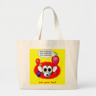 Monkey Birthday Party Large Tote Bag