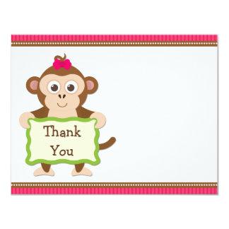 Monkey Birthday Party Thank You Card