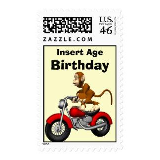 Monkey Birthday Postage Stamps