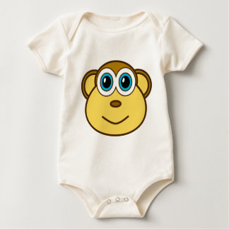Monkey Bizness Face Design Baby Bodysuit