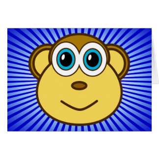 Monkey Bizness Face Design Card