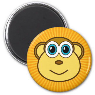 Monkey Bizness Face Design Magnet