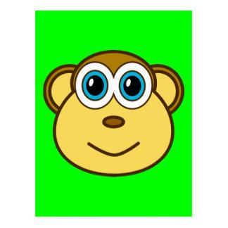 Monkey Bizness Face Design Postcard