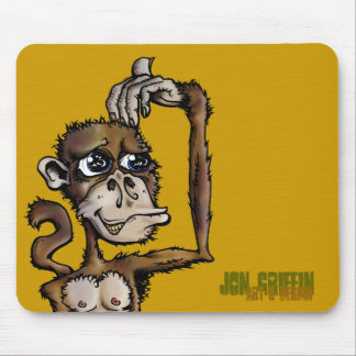 Monkey Bizness-JGAD, Jon Griffin, Art & Design Mouse Pad