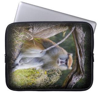 Monkey Black Edge Laptop Sleeve