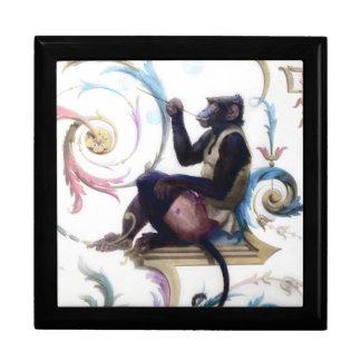 Monkey Blowing Bubbles Jewelry Box
