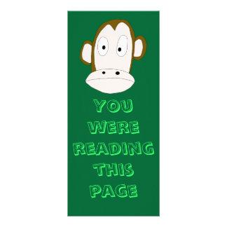 Monkey Bookmark Rack Card