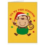 Monkey Boy 1st Christmas Card